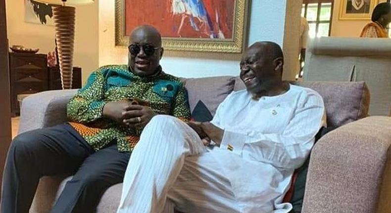 Ken Ofori-Atta and his cousin President Akufo-Addo