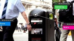 Śmietniki śledzą mieszkańców Londynu