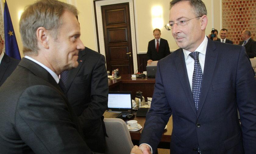 Donald Tusk i Bartłomiej Sienkiewicz.