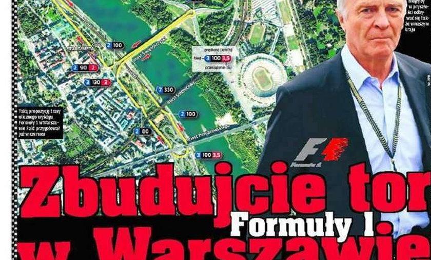 Zbudujcie tor Formuły 1 w Warszawie!