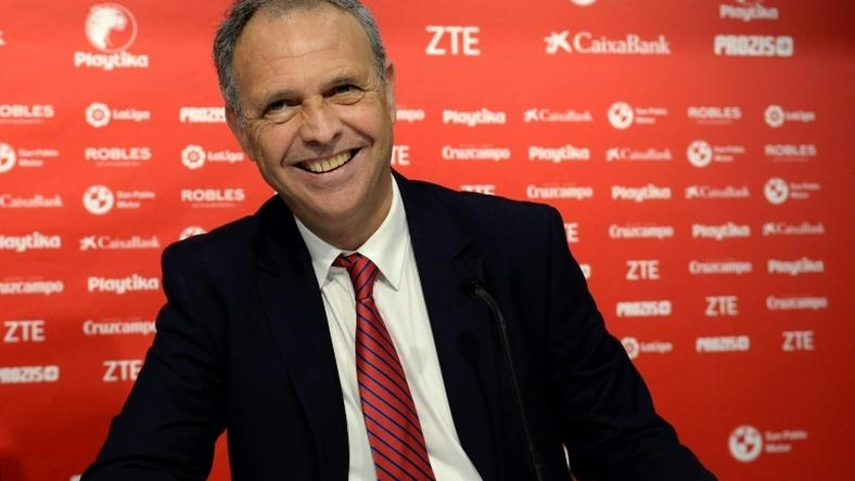 Sevilla's sporting director Joaquin Caparros has ben appointed caretaker coach