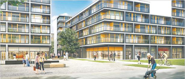 Na osiedlu 19. Dzielnica deweloper wykończy mieszkanie o 1/4 taniej, jeśli do zakupu namówimy znajomych Fot. Materiały prasowe