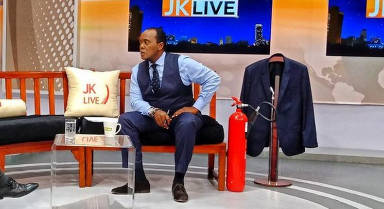 Jeff Koinange while hosting his talk show JKL on Citizen TV
