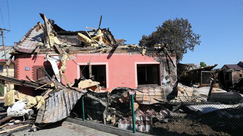 pożar we wsi Nowa Biała