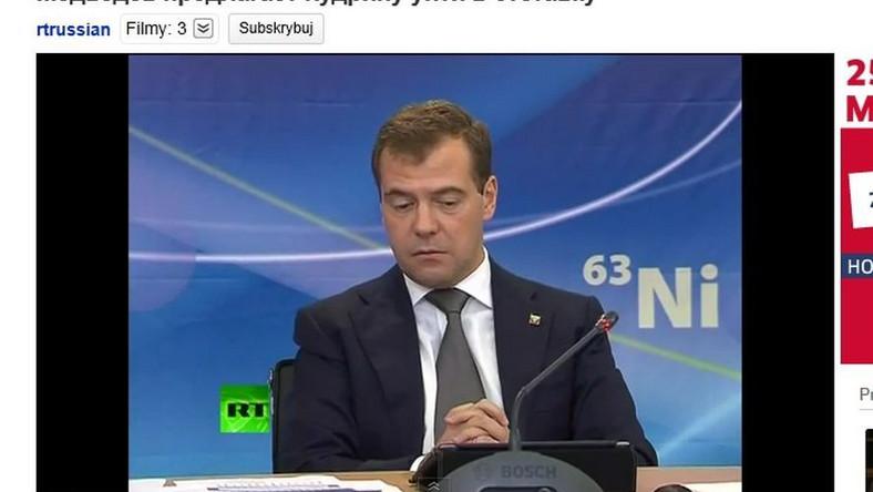 Miedwiediew zbeształ ministra