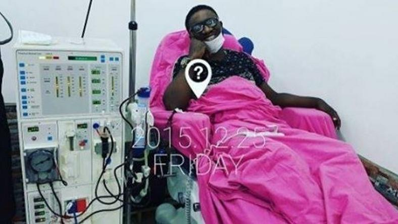 Emma Ugolee during dialysis