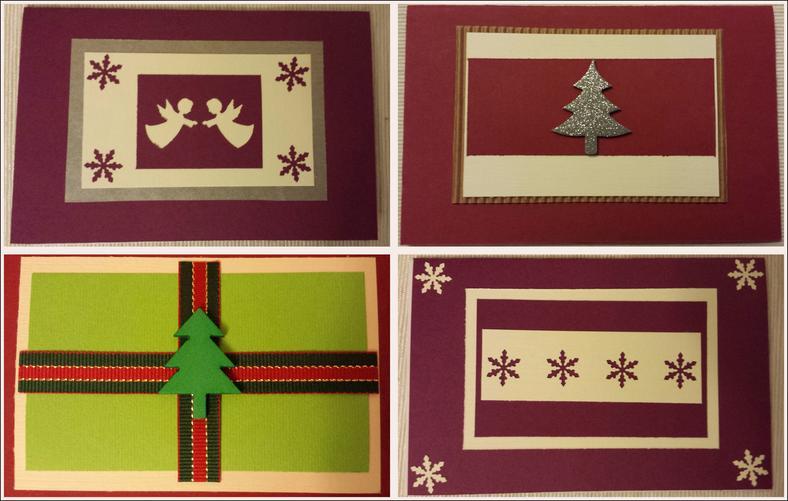 Unikalne Kartki świąteczne bożonarodzeniowe ręcznie robione krok po kroku TA45