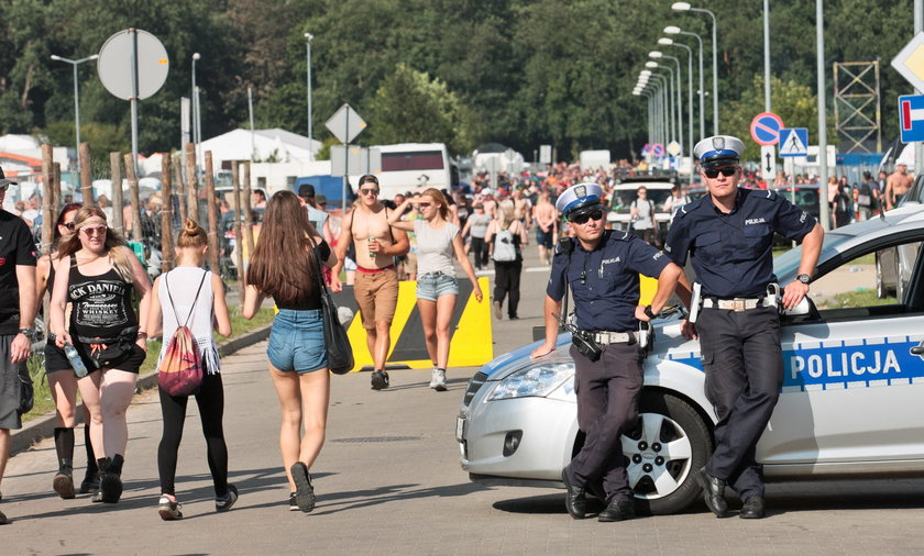 Policja na Woodstocku