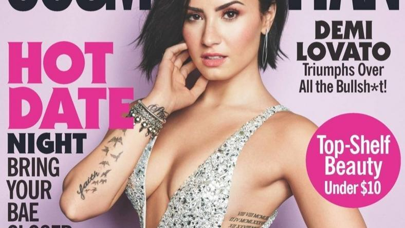 Demi Lovato covers Cosmopolitan magazine September 2015 issue