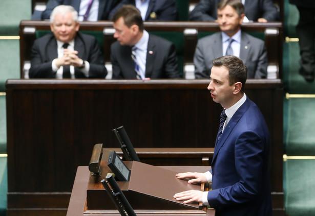 Minister pracy Władysław Kosiniak-Kamysz podczas posiedzenia Sejmu