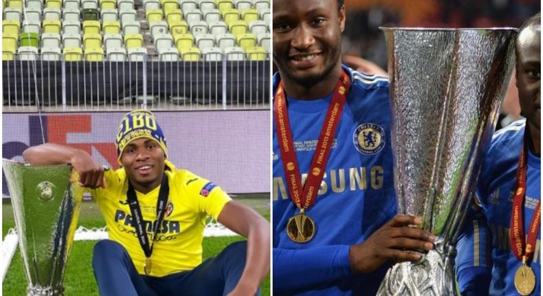 Samuel Chukwueze joins the likes of  Mikel Obi, Victor Moses and three others are the Nigerian players to have won the Europa League