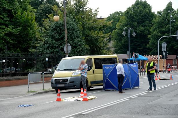 Miejsce wypadku w Katowicach
