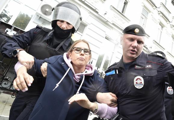 Ljubov Sobolj je uhapšena trećeg avgusta na protestu u Moskvi