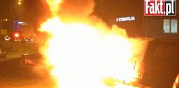 Tak płonęło auto! FILM!