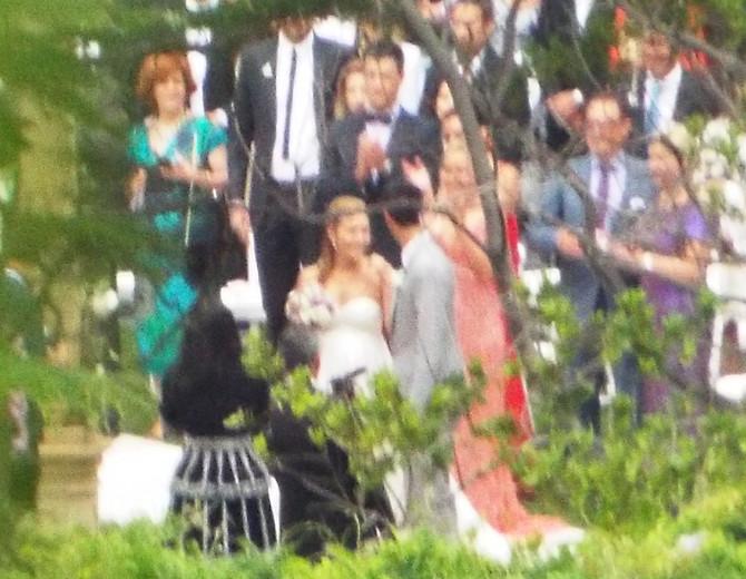 Novak i Jelena na venčanju