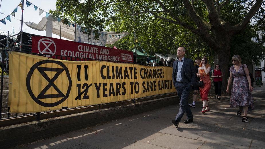 Wielka Brytania: jeden z protestów w związku ze zmianami klimatu