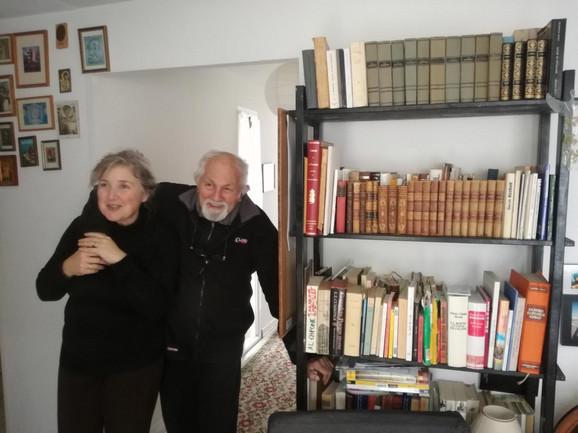 Milovan Danojlić sa suprugom Sanjom Bošković