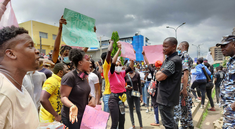 #EndSARS protesters defy Gov Wike, empty into Port Harcourt streets to call for an end to police brutality