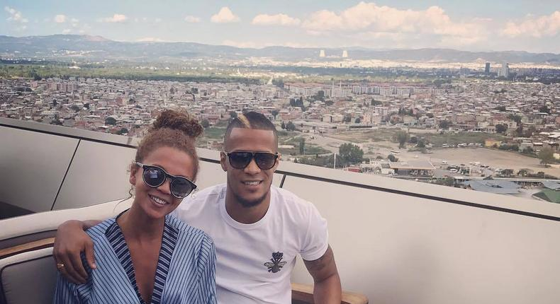 Super Eagles defender William Troost-Ekong was among the Nigerian footballers that took to social media to celebrate their partners on Mothers' Day.