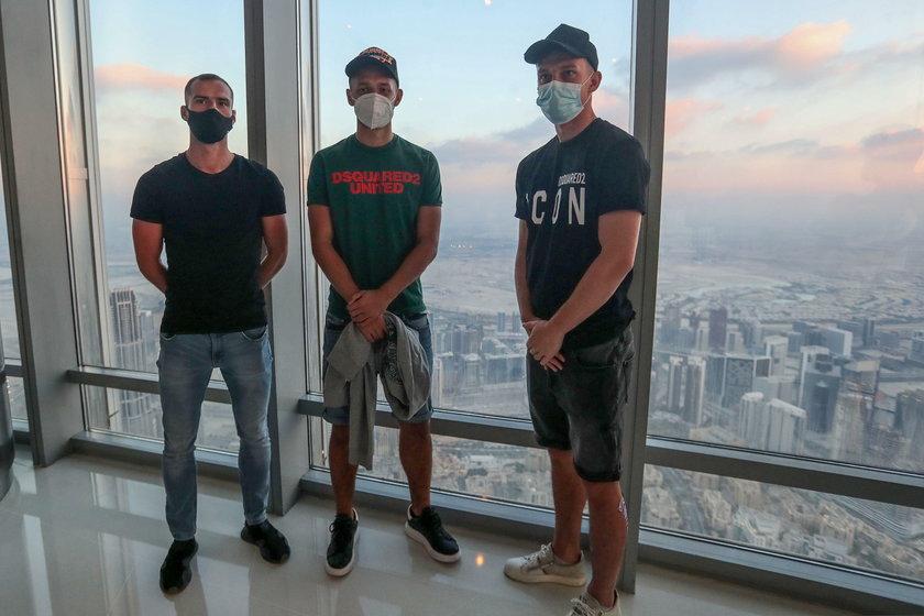 Pilka nozna. Legia Warszawa. Zgrupowanie w Dubaju. Burj Khalifa. 14.01.2021