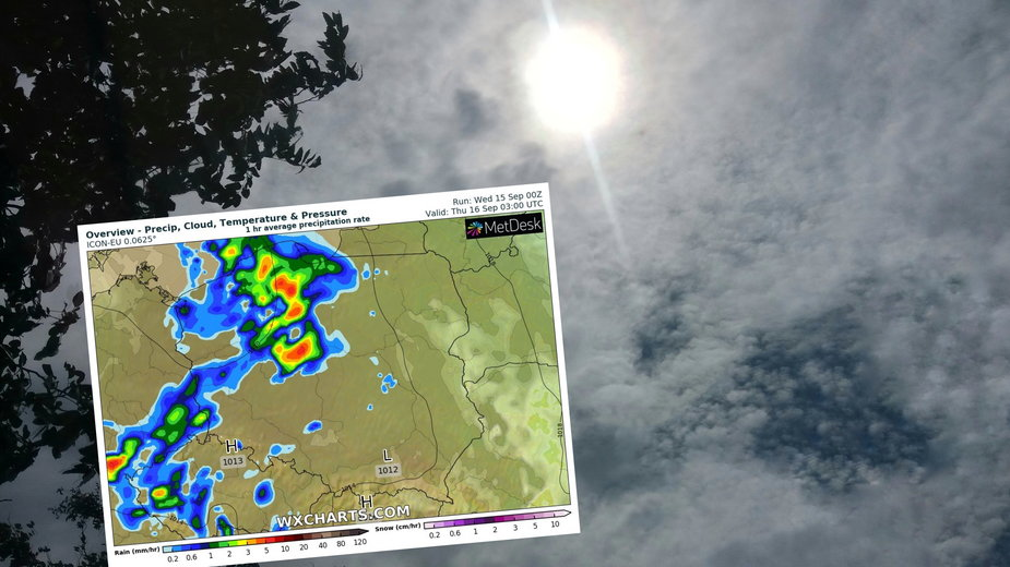 Nie zabraknie dziś słońca, ale od zachodu zacznie powoli przybywać chmur z deszczem