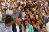 Dusan Spasojević, Vladan Vukosavljevic i grčka ministarka kulture Konjordu na premijeri