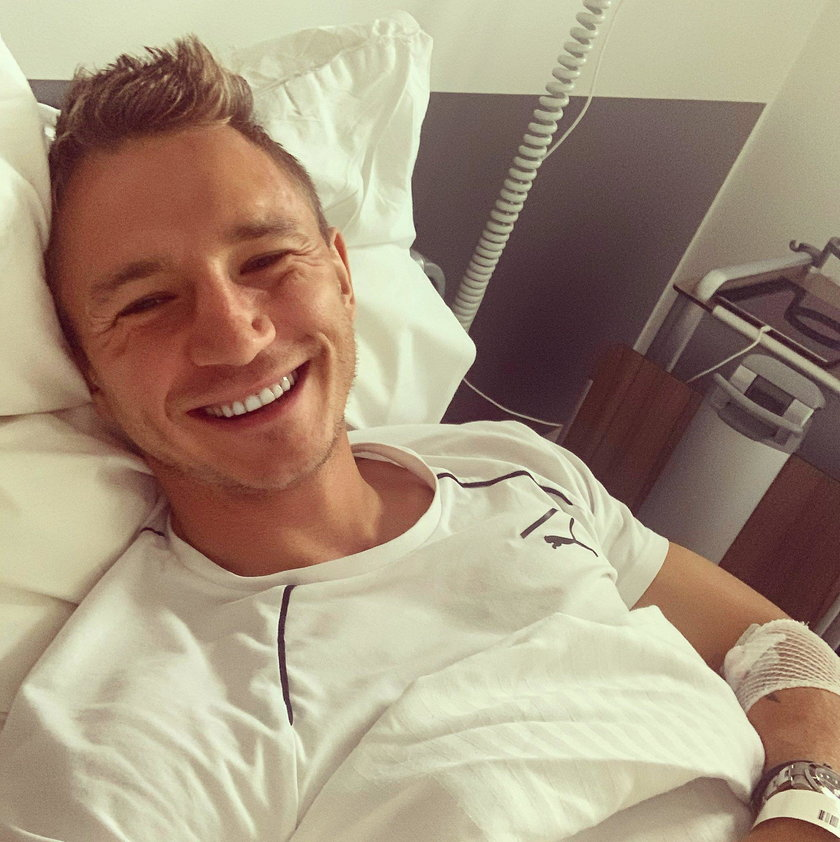 Jakub Rzeźniczak w szpitalu