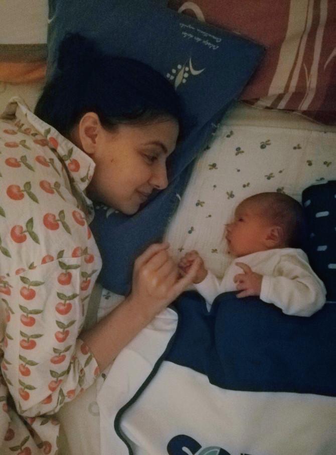 Draginja Veljković sa sinom Vukanom, koji se rodio u petak, 20. marta