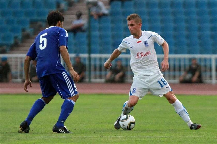 Inter Baku - Lech Poznań 0:1 w II rundzie eliminacji Ligi Mistrzów. Gola strzelił Artur Wichniarek