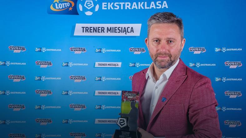 Jerzy Brzęczek trenerem września w LOTTO Ekstraklasie