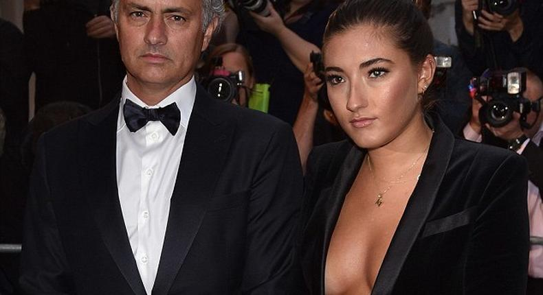 Jose and Matilda Mourinho at GQ Man of the Year 2015 , London