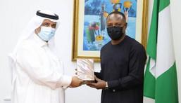 Saudi Ambassador to Nigeria, Faisal Ebraheem and Nigeria's Foreign Affairs Perm. Sec. [hajjreporters]
