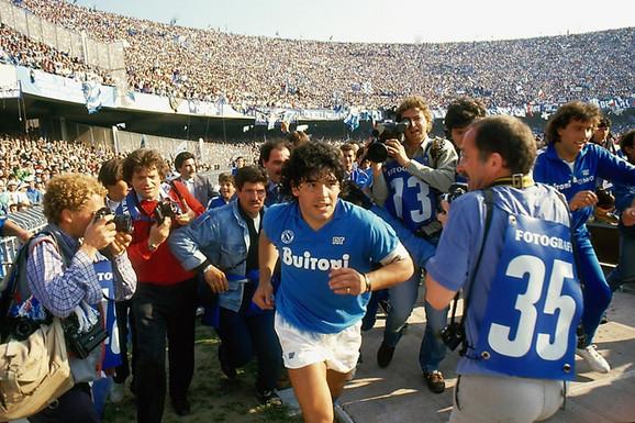 Dijego Maradona u dresu Napolija