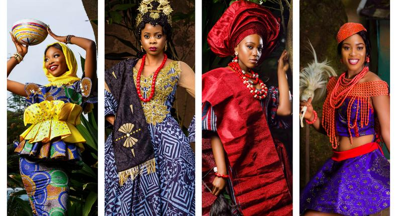 MBGN contestants in their traditional attires