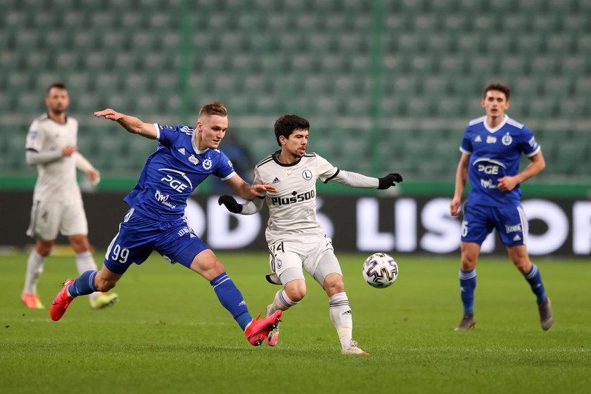 Pilka nozna. PKO Ekstraklasa. Legia Warszawa - Stal Mielec. 18.12.2020