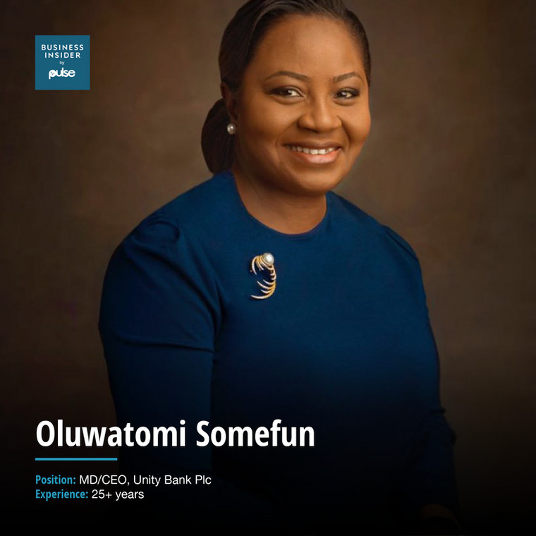 Oluwatomi Somefun, MD/CEO, Unity Bank