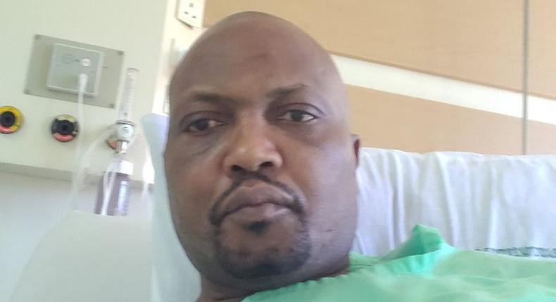Moses Kuria at Karen Hospital Nairobi