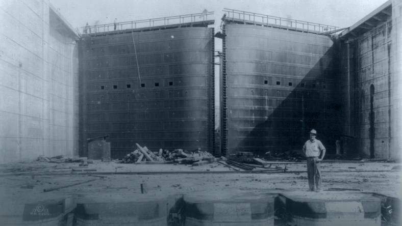Budowa Kanału Panamskiego, fot. Library of Congress