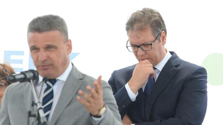 Aleksnadra Vučić, Preljina, Čačak, Forverk, Kamen temeljac