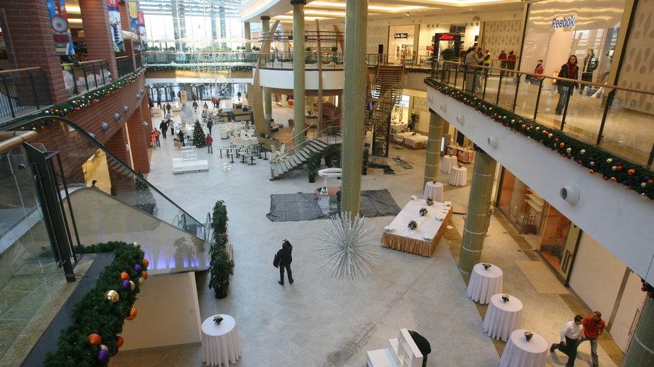 Wnętrze galerii handlowej Bonarka w Krakowie