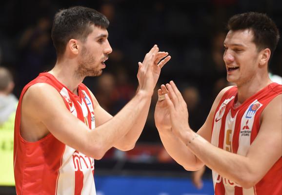 Ognjen Dobrić i Nemanja Nenadić su pružili dobru igru protiv Olimpije