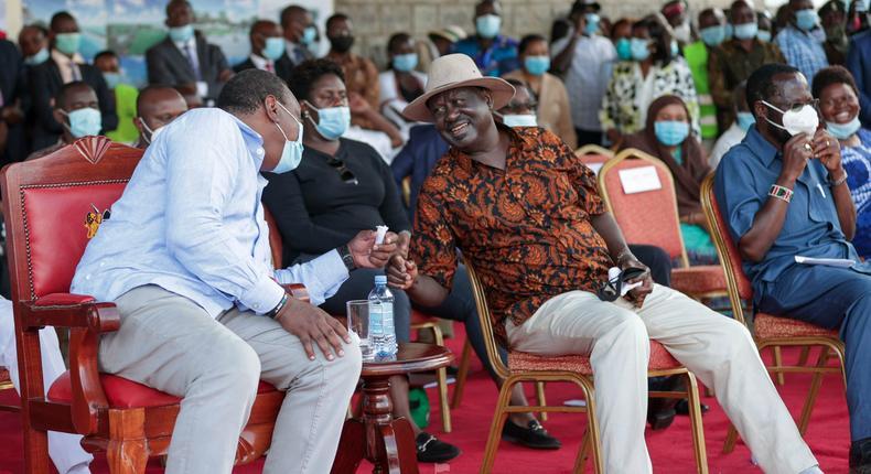 President Uhuru Kenyatta and ODM Party leader Raila Odinga