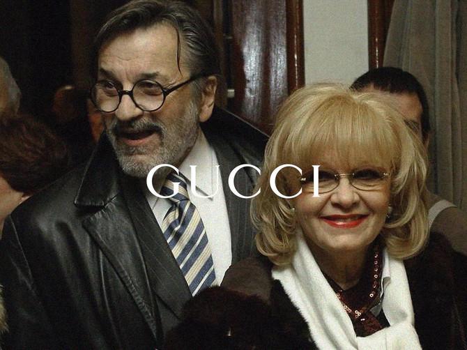 Dragan Nikolić i Milena Dravić u kampanji modne kuće Guči