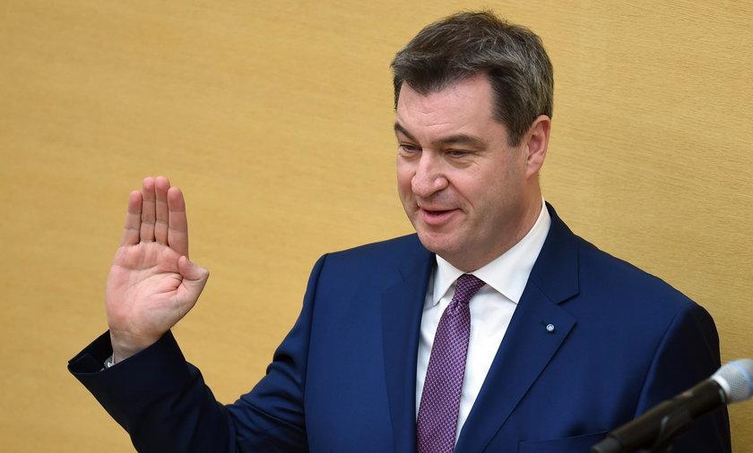 Premier Bawarii Markus Soeder z CSU