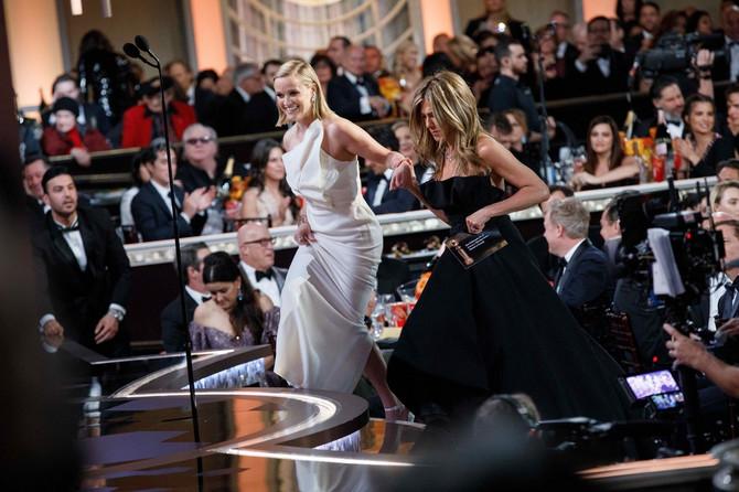 Riz Viterspun i Dženifer Aniston na Zlatnom globusu 2020. godine