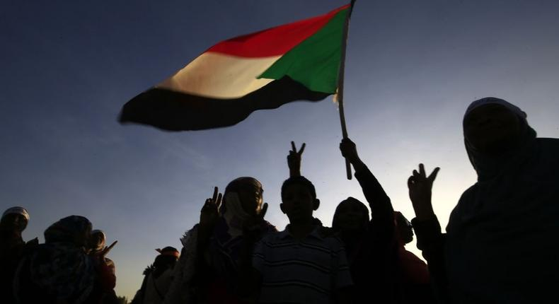 [FILE] Sudanese women march in Khartoum to mark International Day for Eliminating Violence against Women, in the first such rally held in the northeast African country in decades, on November 25, 2019. - Chanting Freedom, peace, justice, the catchcry of the protest movement that led to autocrat Omar al-Bashir's ouster in April, the demonstrators took to the streets in the Burri district, a site of regular anti-Bashir protests earlier this year. (Photo by Ashraf SHAZLY / AFP) (Photo by ASHRAF SHAZLY/AFP via Getty Images)