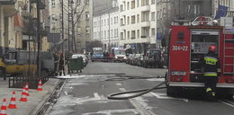 Samochód spłonął pod MSZ