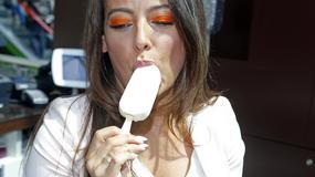 Znane kobiety jedzą lody. Widoki w sam raz na upał