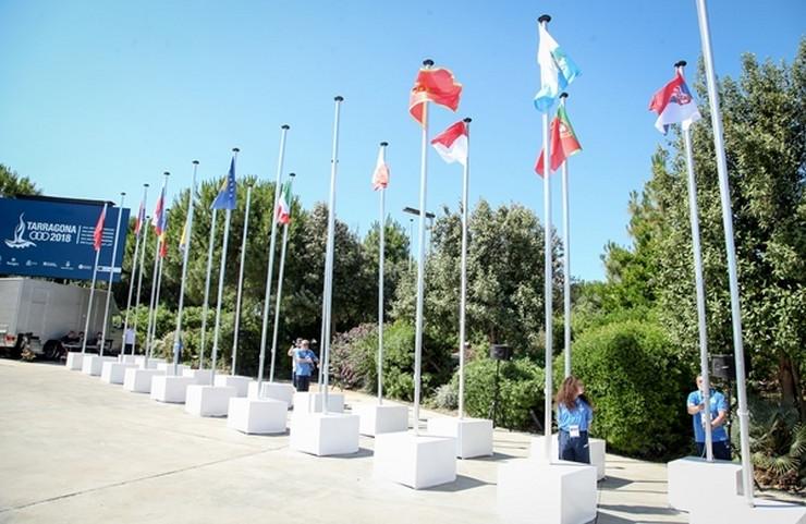 Zastava Srbije, Mediteranske igre