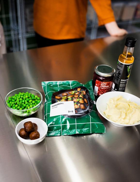 Ćufte će se servirati u IKEA Restoranu na tradicionalan način – uz pire krompir, grašak, džem od nordijskih bobica i krem sos